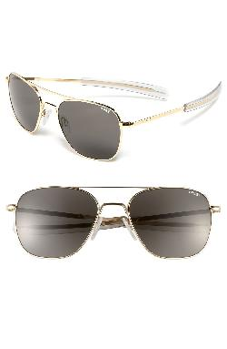 58mm Aviator Sunglasses Gold/ Grey by Randolph Engineering in Iron Man 3