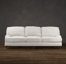 Cameron Roll Arm Upholstered Grand Sofa by Pottery Barn in The Other Woman