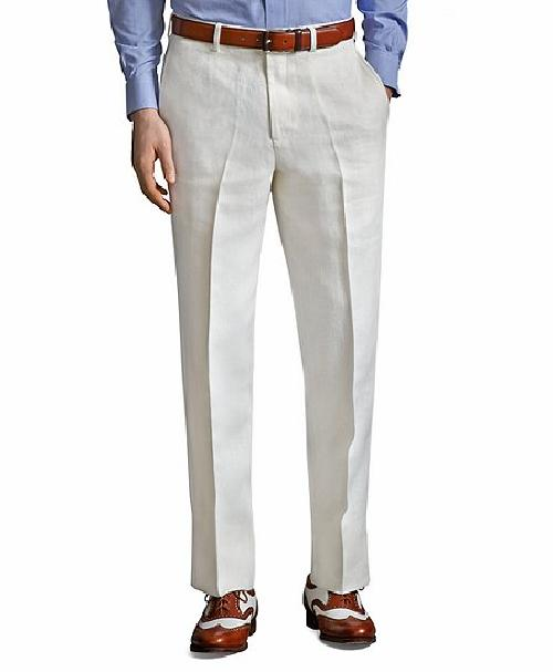 The Great Gatsby Collection Ivory Linen Pants by Catherine Martin (Costume Designer) and Brooks Brothers (Tailor) in The Great Gatsby