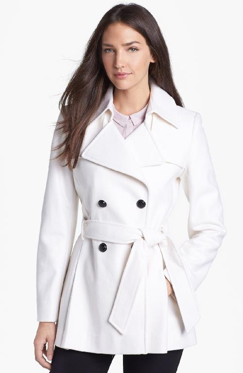 Short Wool Blend Trench Coat by Via Spiga in Iron Man 3