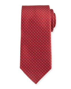 Brioni	 - Bubble-Print Silk Tie