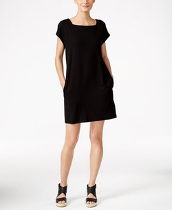 Eileen Fisher  - Square-Neck Shift Dress