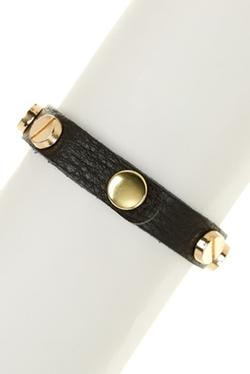 Natasha Accessories - 7 Station Leather Bracelet