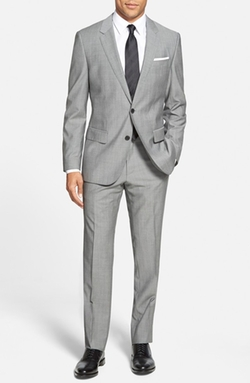 Boss - Huge/Genius Trim Fit Wool Suit