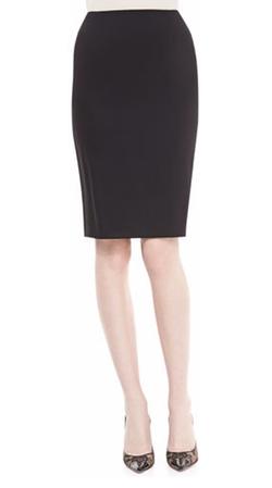 Neiman Marcus - Crepe Pencil Skirt