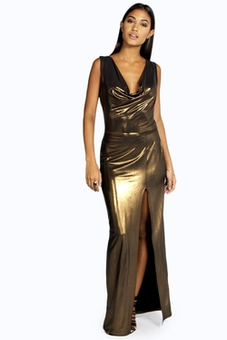 Boohoo - Cowl Neck Maxi Dress