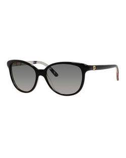 Gucci - Floral-Interior Oversized Cat-Eye Sunglasses