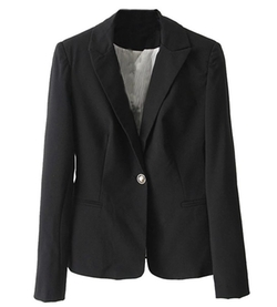 LATUD Women Clothes  - One Buton Slim Fit Lapel Blazer