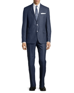 Hugo Boss   - Hutson Wool-Blend Inwrought Two-Piece Suit