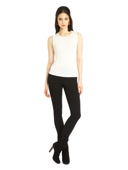 Oscar De La Renta - Cashmere Silk Jewel Neck Tank Top