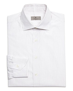 Canali - Grid Check Dobby Dress Shirt