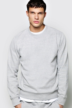 Boohooman Basics - Crew Neck Sweater