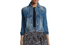 Just Cavalli - Stretch Denim Cropped Jacket