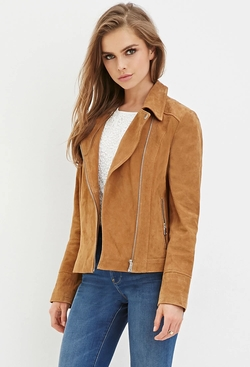 Forever21 - Genuine Suede Moto Jacket