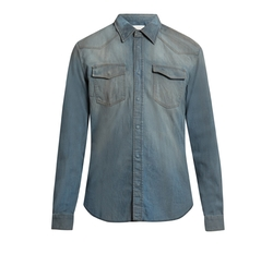 Maison Margiela   - Straight-fit Distressed Denim Shirt