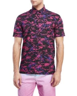 Century 21 - Short Sleeve Marble Print Shirt