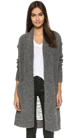 Current/Elliott - The Long Slash Pocket Cardigan Sweater