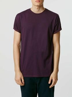 Topman - Burgundy Salt And Pepper Roller T-Shirt