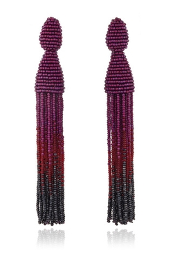 Oscar De La Renta  - Ombré Tassel Earrings