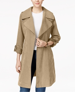 Laundry by Design - Draped Asymmetrical Trench Coat