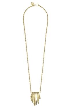 Soko - Brass Fringe Pendant