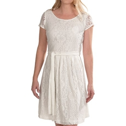 Chetta B - Fit And Flare Floral Lace Dress