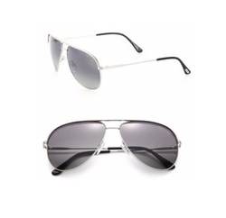 Tom Ford Eyewear - Smoke Aviator Sunglasses