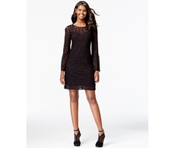 INC International Concepts  - Bell-Sleeve Lace Sheath Dress