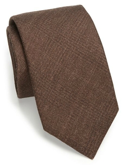 Saks Fifth Avenue Collection - Solid Plaid Silk & Wool Tie