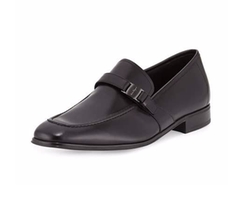 Salvatore Ferragamo - Pinot Calfskin Side Vara Loafers