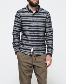 Native Youth - Woven Geo Stripe Shirt