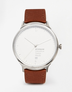 Mondaine - Helvetica Leather Strap Watch
