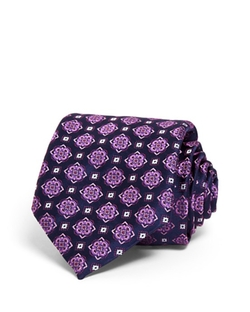 Canali  - Large Floret Medallion Classic Tie