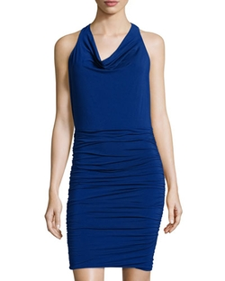BCBGmaxazria - Jaide Cowl-Neck Halter Dress