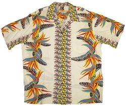 Pineapple Juice - Bird of Paradise Panel Vintage Shirt