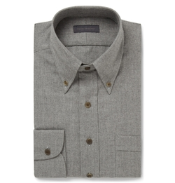 Thom Sweeney - Slim-Fit Brushed-Cotton Shirt