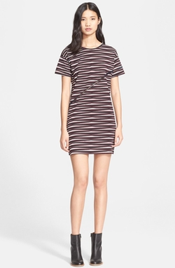Carven  - Broken Stripe T-Shirt Dress