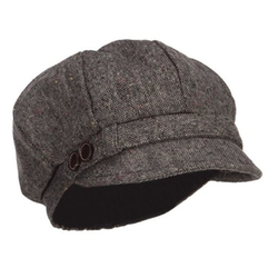Jeanne Simmons - Two Button Tweed Cabbie Hat