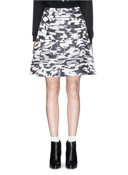 Kenzo - Spray Stripe Print Twill Flare Skirt