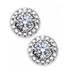 Trumiracle - Diamond Halo Stud Earrings