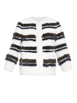 Sonia Rykiel  - Rell Striped Fur Jacket
