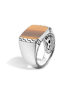 John Hardy - Tigers Eye Signet Ring