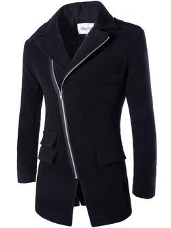 Neleus - Casual Slim Fit Trench Coat