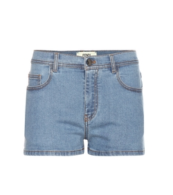 Fendi - Fur Embellished Denim Shorts