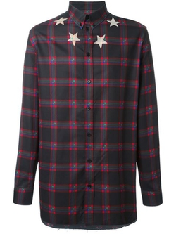 Givenchy - Star Print Plaid Shirt