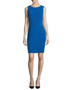 Armani Collezioni  - Sleeveless Round-Neck Sheath Dress