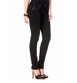 Miss Me - Bedazzled Black Skinny Jeans