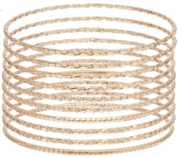 Bronzo Italia - Solid Textured Bangles