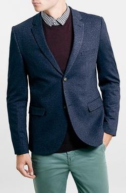 Topman - Navy Jersey Blazer