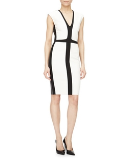 Narciso Rodriguez - Tricolor Sheath Dress
